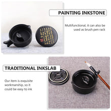 Multifunctional Inkslab Calligraphy Inkstone Ceramic Painting Inkslab with Cover - Ori Wisdom