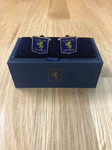 Navy Shield Cufflinks
