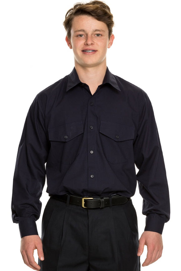 Button School Shirt - All Sizes