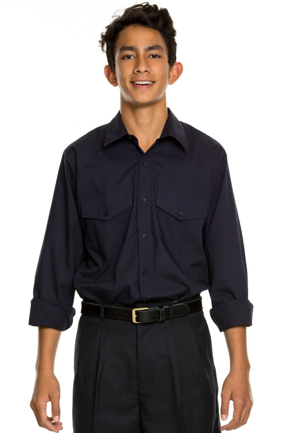 Tall Velcro School Shirt - All sizes