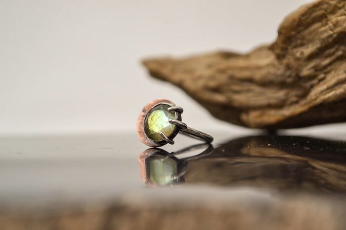 Lunar Eclipse Labradorite Ring