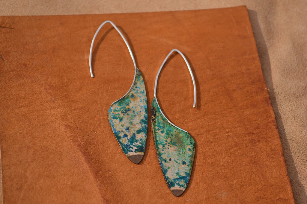 Crystal Patina Threaders, long