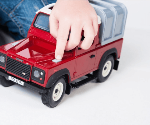 Britains Big Farm Red Land Rover Defender with Lights & Sounds