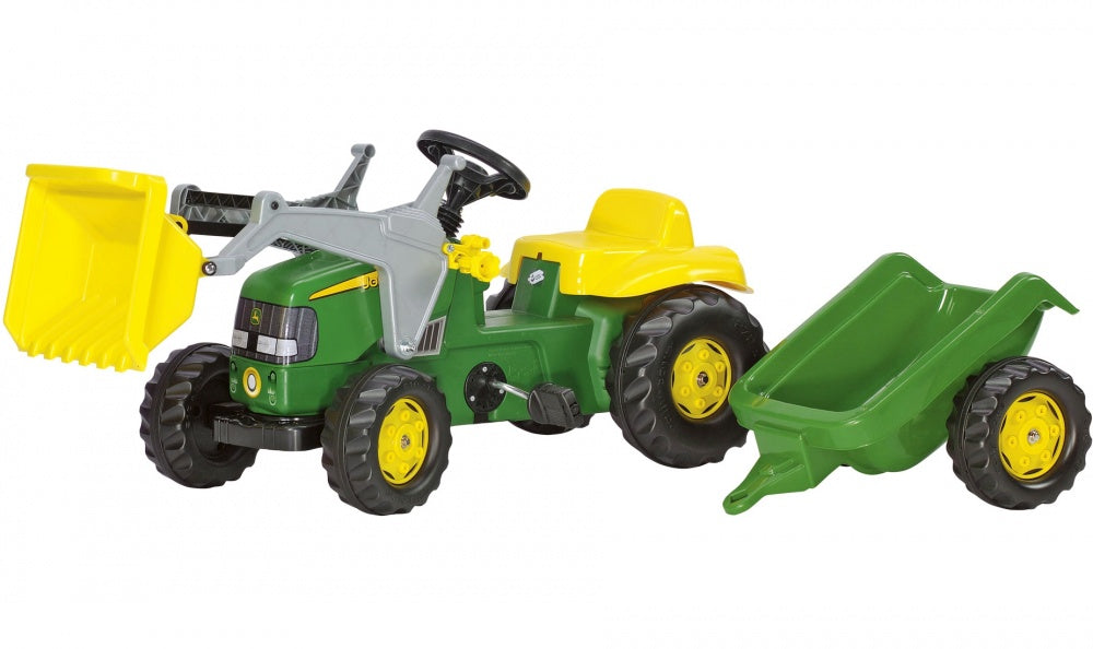 Rolly Toys 023110 Kid John Deere Ride-on Pedal Tractor