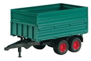 A green tipping trailer wit...