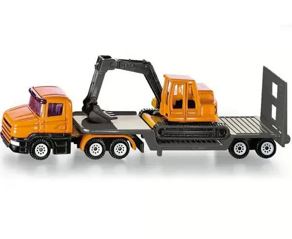 Siku 1611 Mini Low Loader with Excavator 1:87 scale