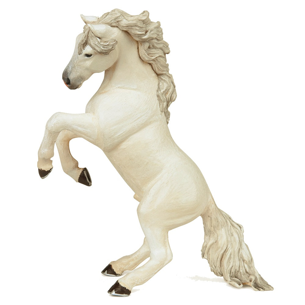 Papo 51521 White Reared Up Horse Model