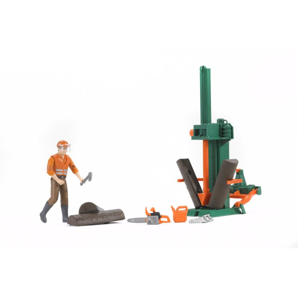 Bruder BWorld 62650 Forestry Set with Log Splitter & Accessories