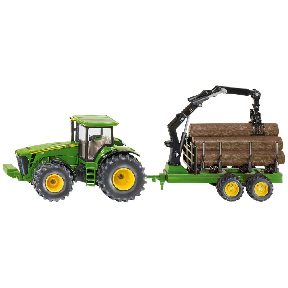 Siku 1954 John Deere 8430 Tractor with Forestry Trailer