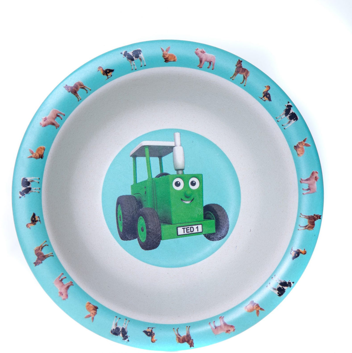 Tractor Ted Bamboo Bowl, Baby Animals