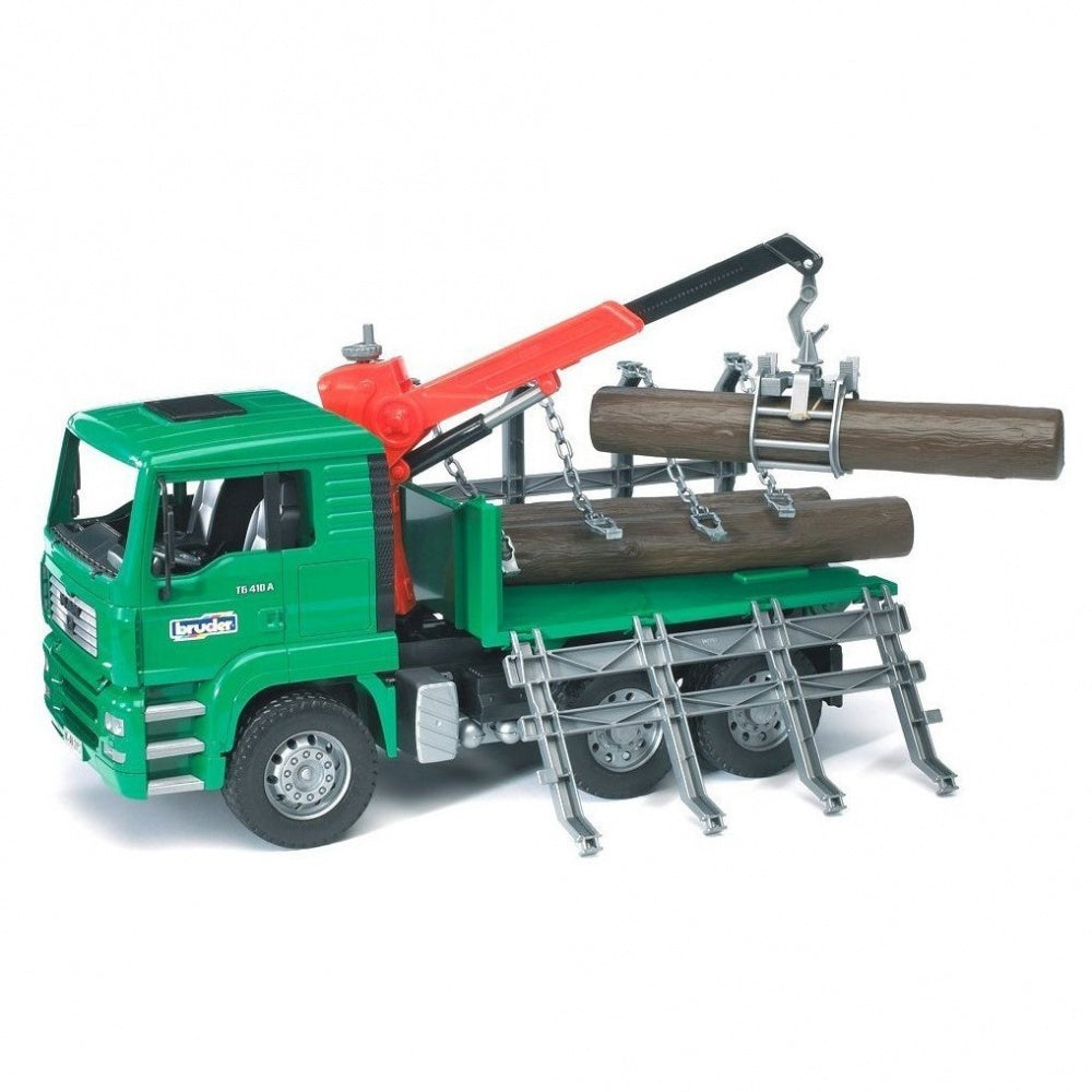 Bruder MAN TGA Timber Truck with Crane & 3 Trunks 02769