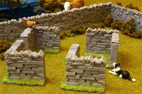 Brushwood Toys Authentic Stone Wall Corner Sections BT3007