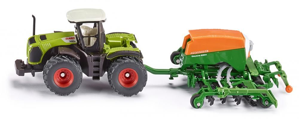 Siku Farmer Claas Xerion Tractor & Amazon Seeder 1826