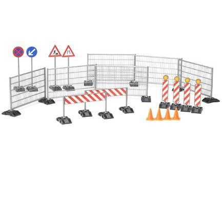 Bruder BWorld 62007 Accessories: Fences, Signs & Pylons