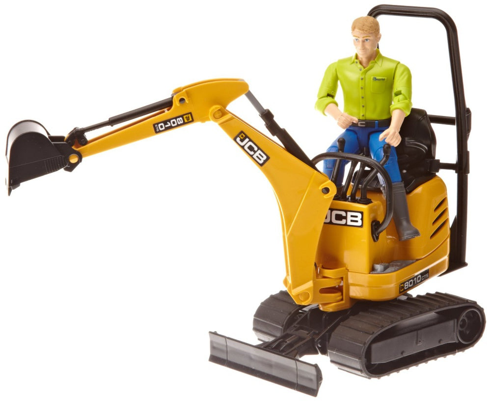 Bruder JCB Micro Excavator 8010 CTS & Construction Worker 62002