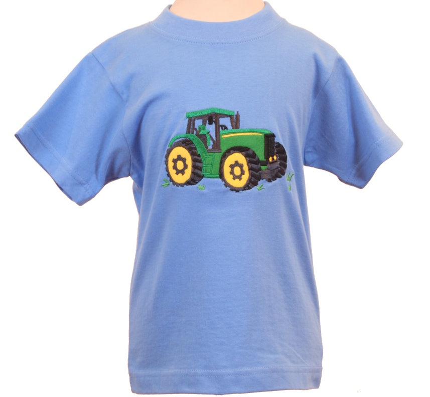 Ramblers Clothing Sky Blue T-Shirt with Green Tractor RT32