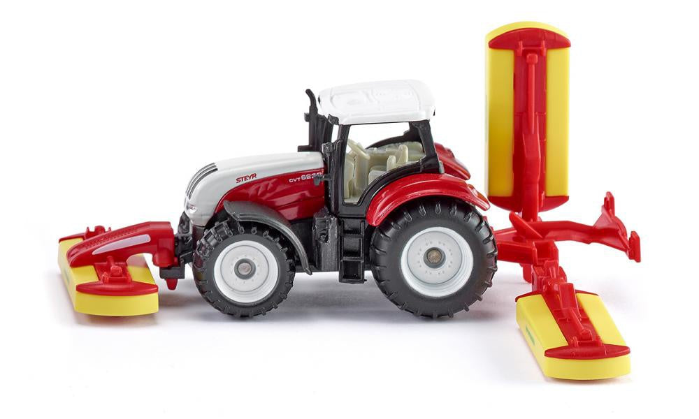 Siku 1672 Steyr Tractor with Pottinger Grass Mowers