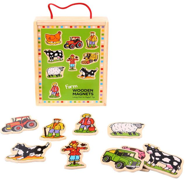 Wooden Farm Magnets (BIGJIGS) [BJ728]