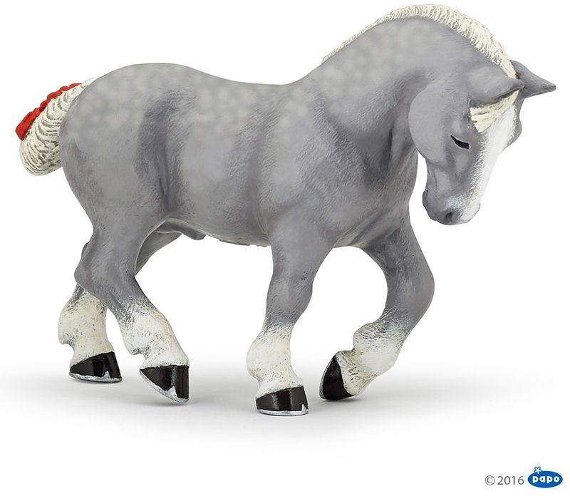 Grey Percheron (Papo) [51551] NEW