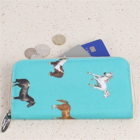 Horses & Ponies Long Wallet (Milly Green) [MG1205]
