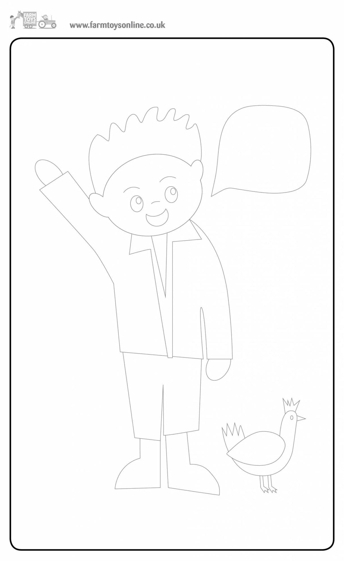 Farmer Freddie's Colouring Sheet 4