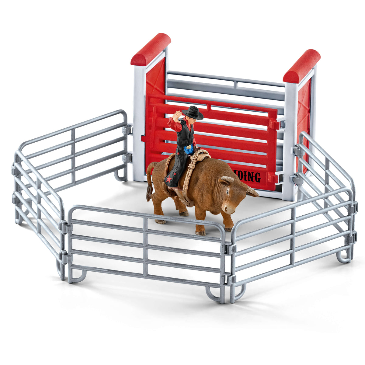 Schleich Cowboy with Bull 41419