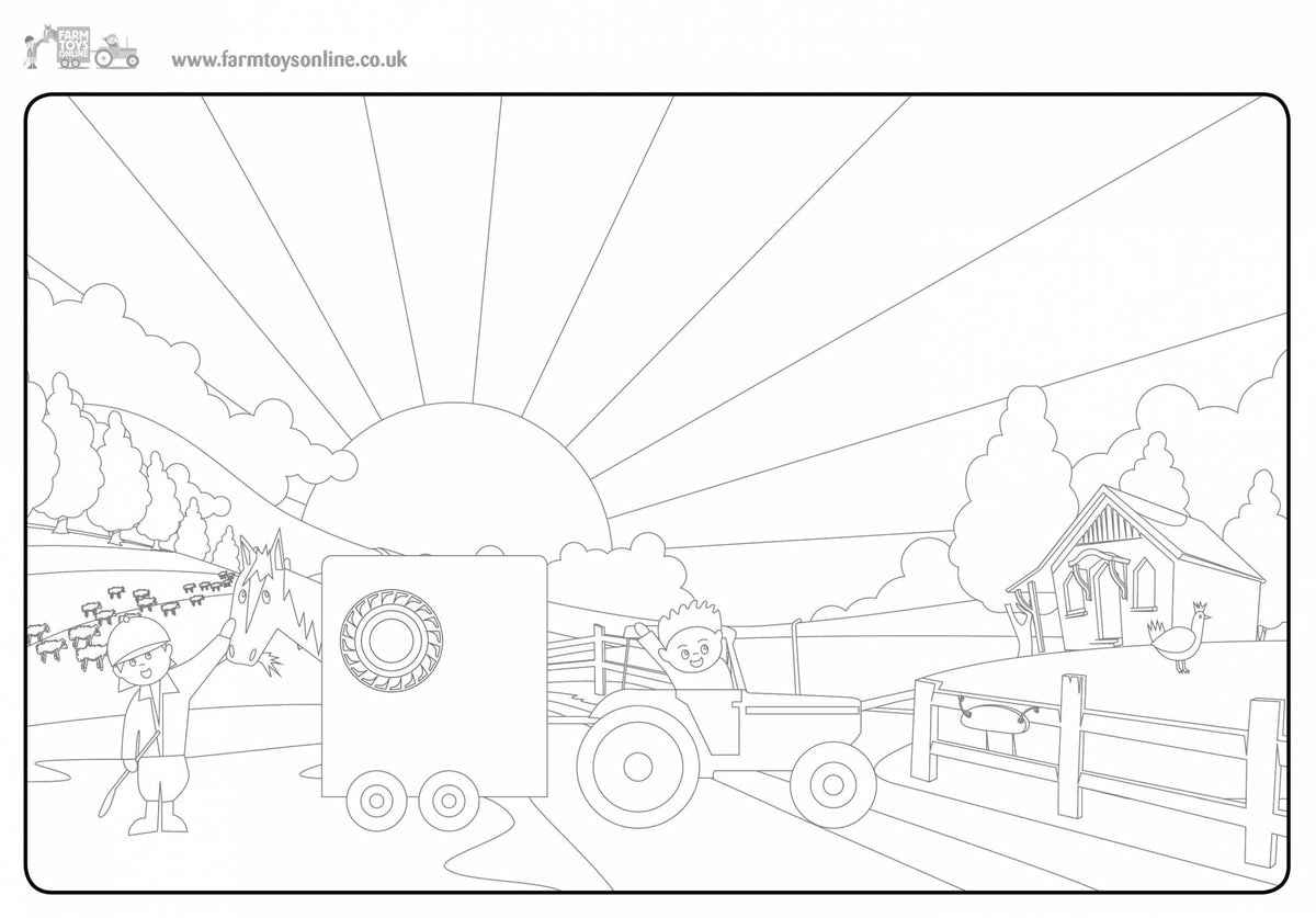 Farmer Freddie's Colouring Sheet 7