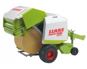 The Claas Rollant 250 round...