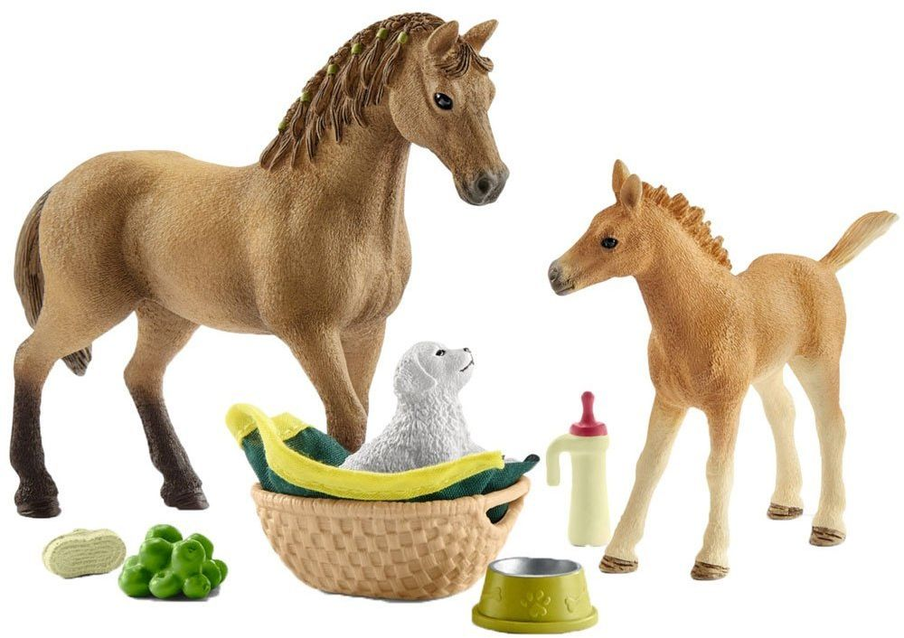 Horse Club Sarah's Baby Animal Care (Schleich) [42432]