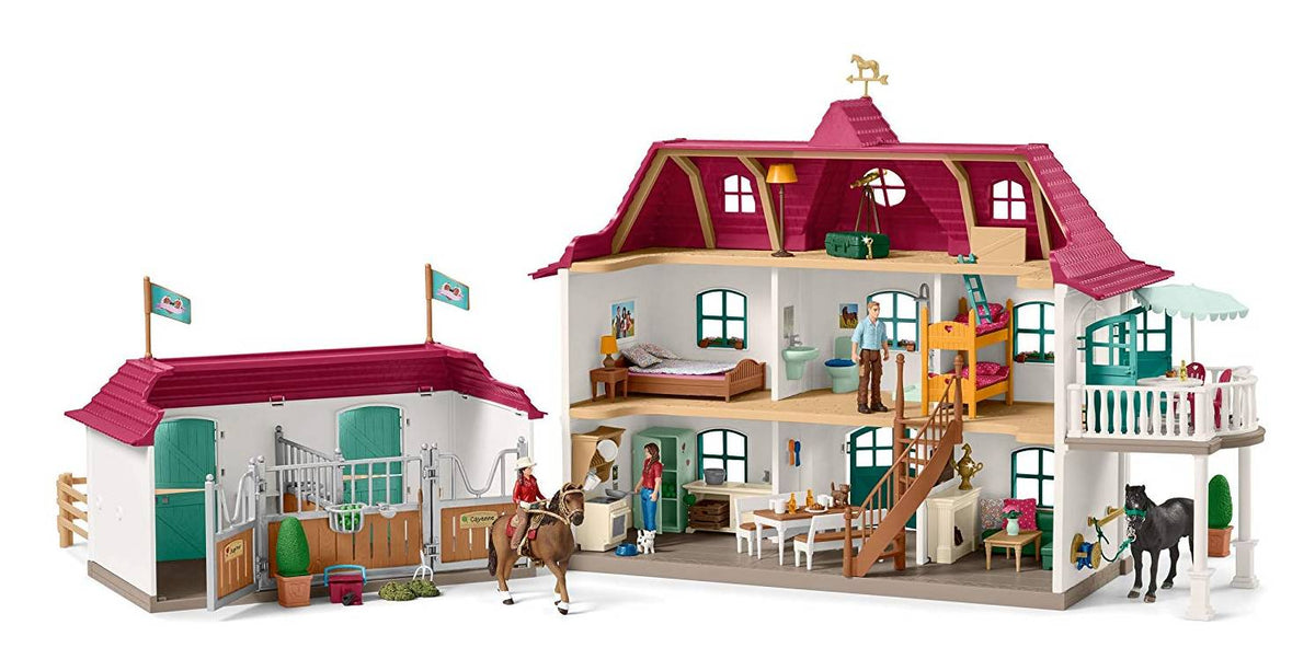 Large Horse Stable with House (Schleich) [42416]