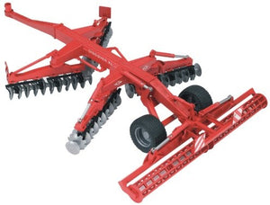 A disc harrow is used to us...
