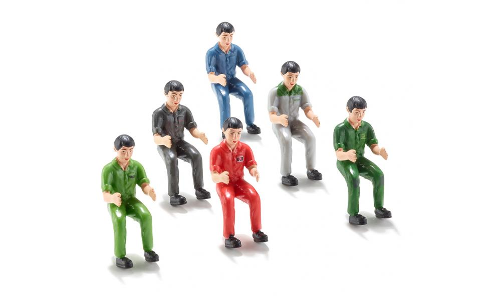 Siku Set of Six Model Tractor Drivers 7071