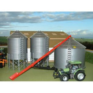 Silos are used to store gra...