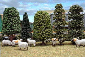 A pack of 5 detailed trees ...