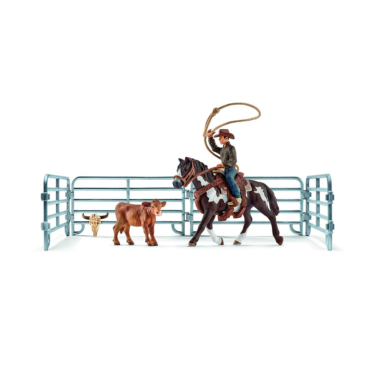 Schleich Cowboy with Team Roping 41418