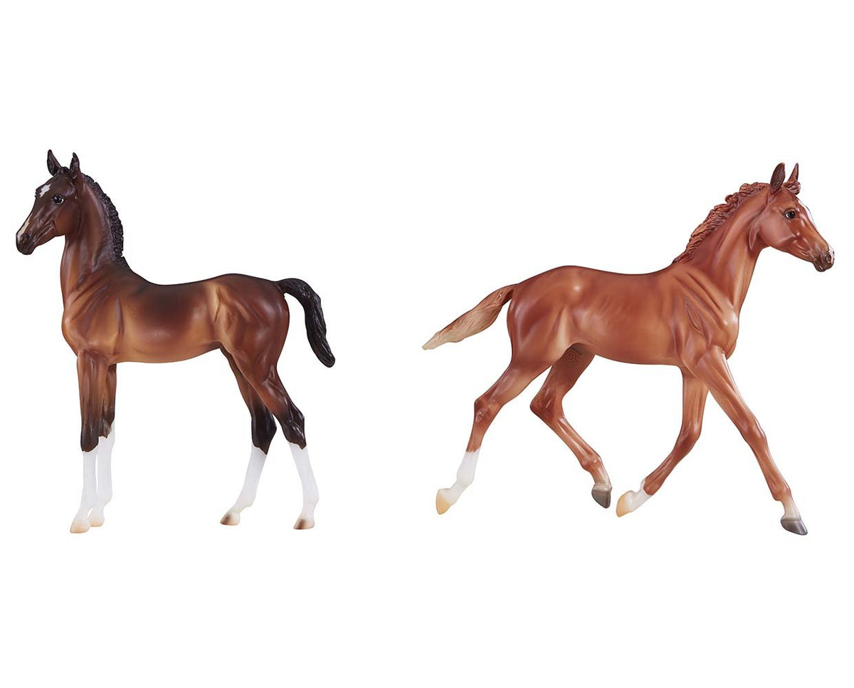 Breyer Traditional Thoroughbred & Hackney Horse Foals 9198