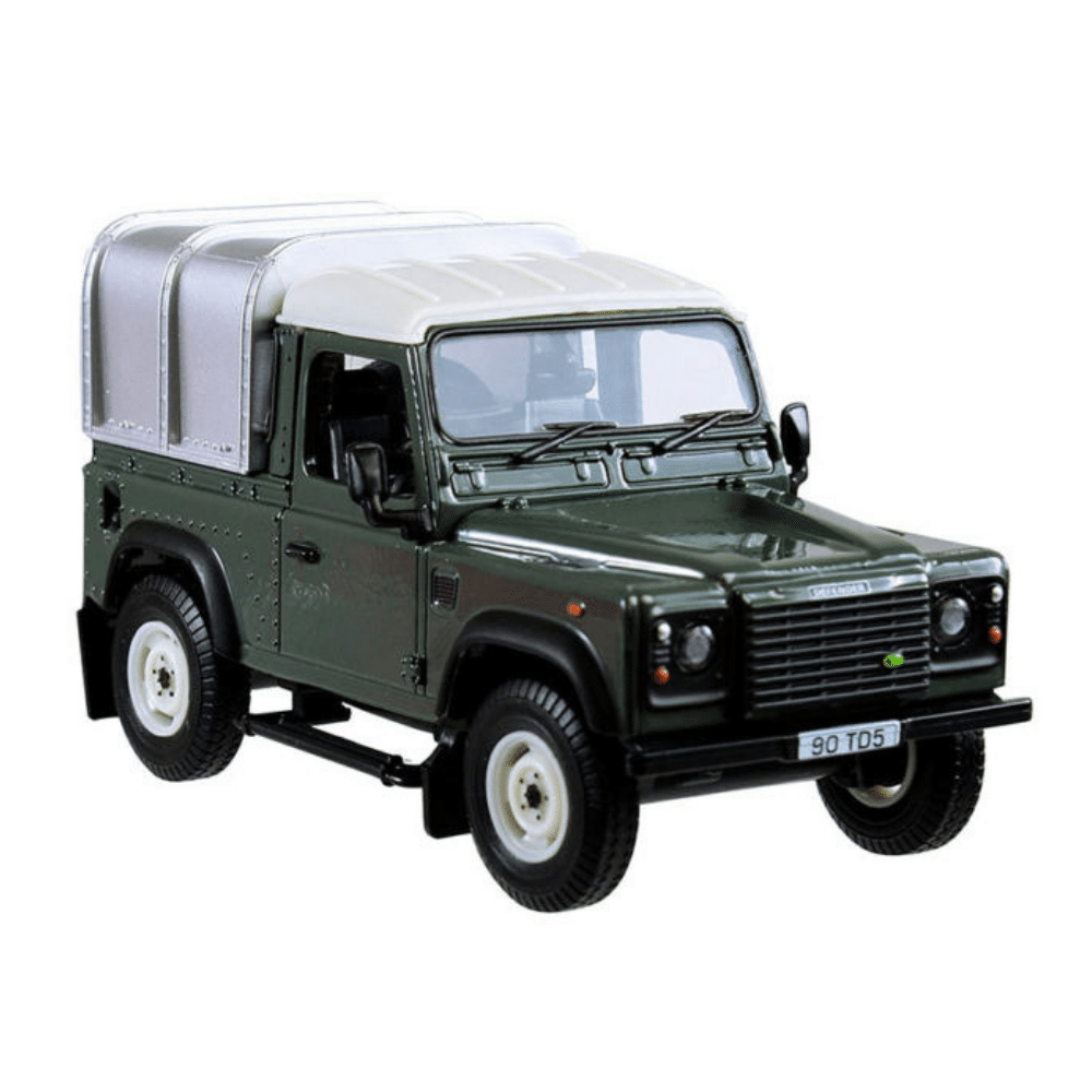 Britains Green Land Rover Defender 90 with Canopy 42732A1