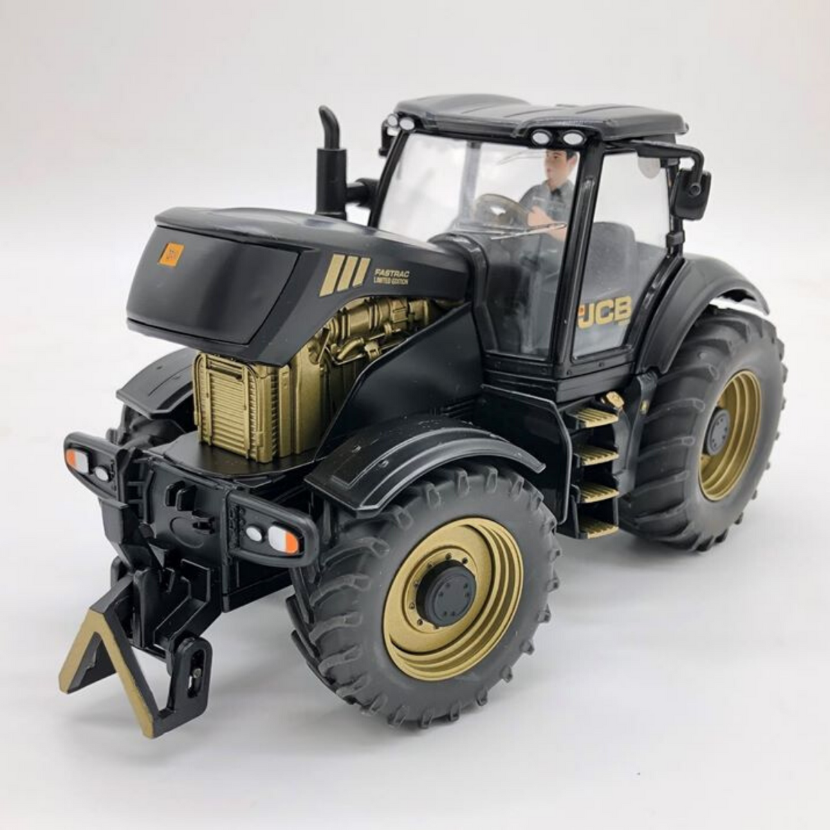 Gold JCB 8250 Tractor with Driver