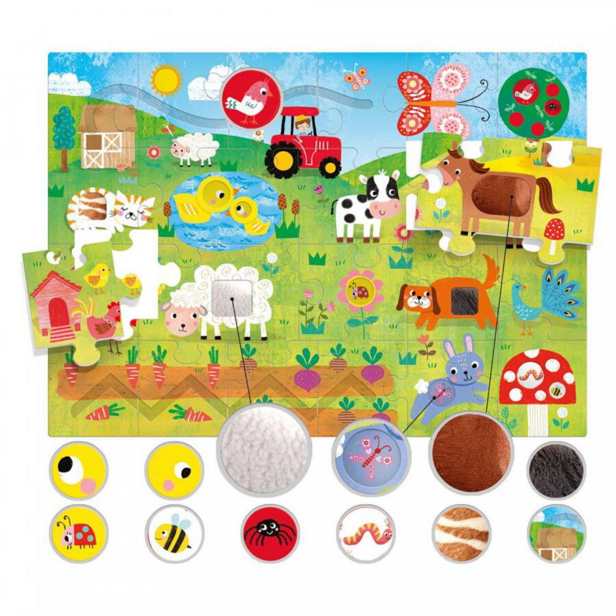 Headu Touch and Feel Farm Puzzle
