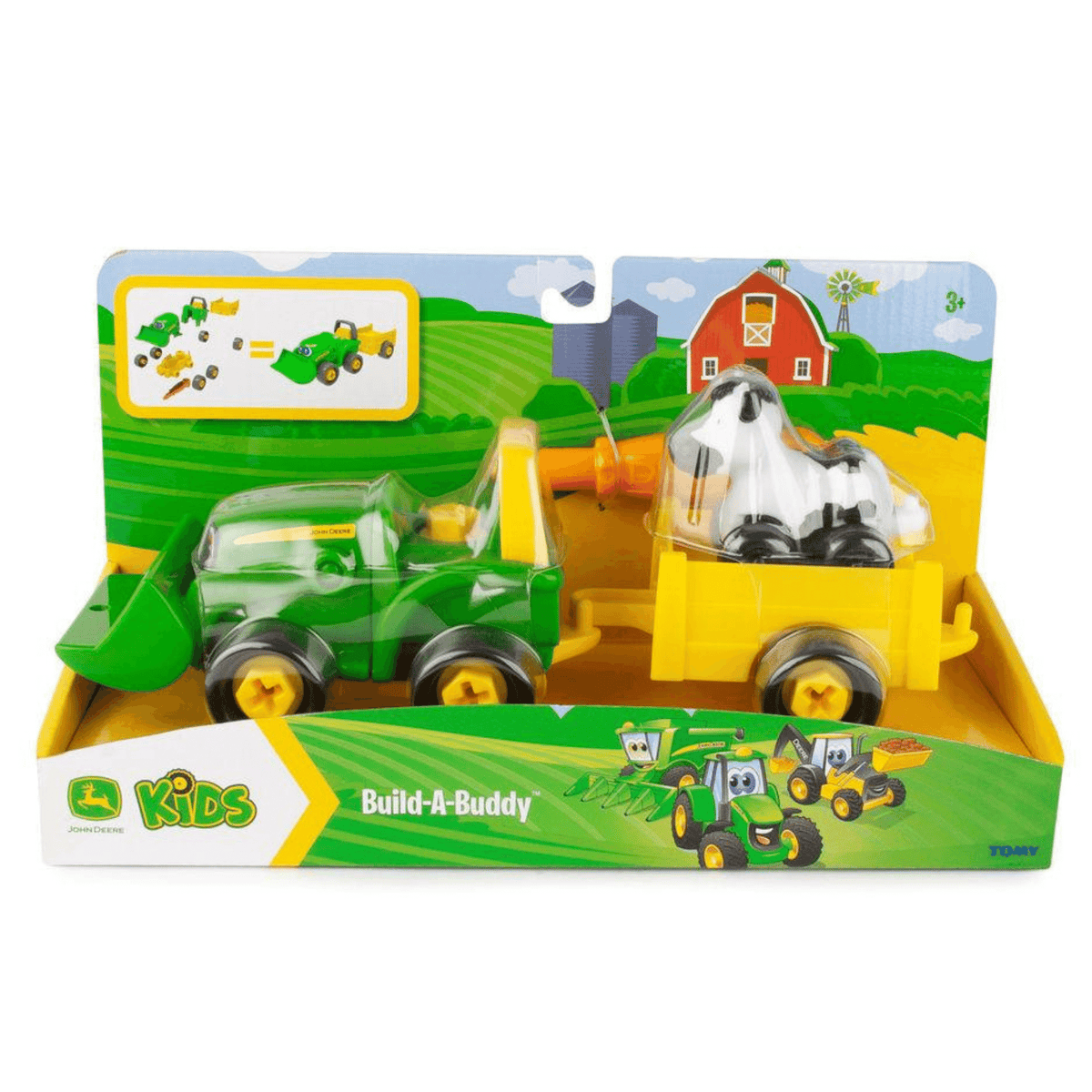 Tomy John Deere Bonnie Build-a-Buddy with Wagon and Cow