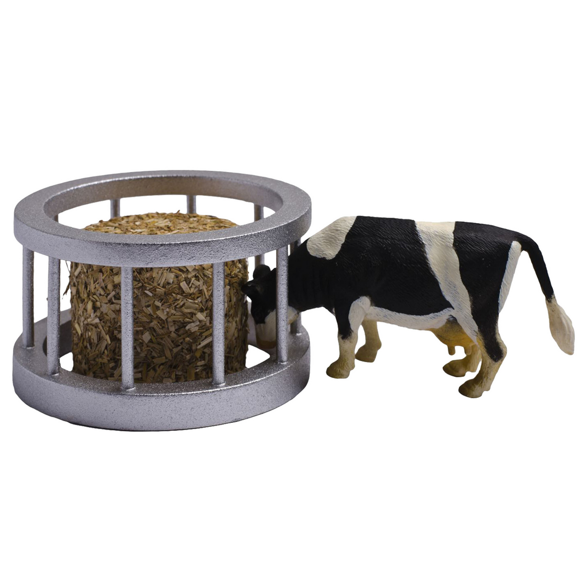 Kids Globe 1961 Feeder Ring with Round Bale & Cow