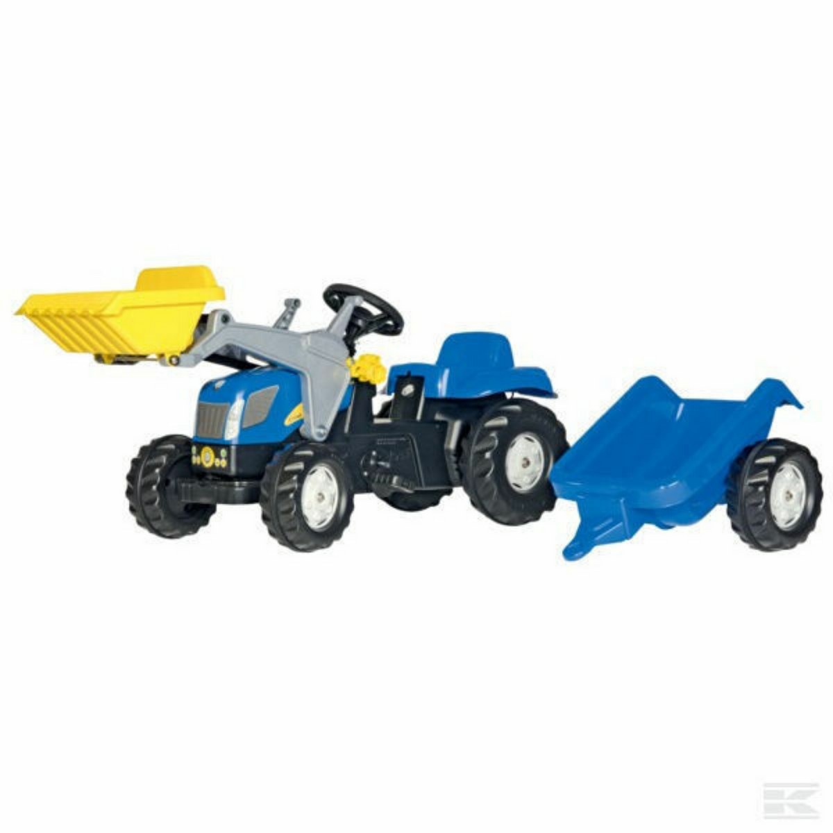 New Holland Pedal Tractor with Loader & Trailer