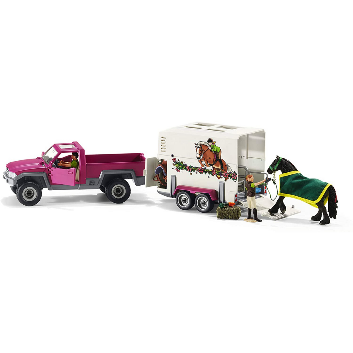Pick Up Vehicle with Horse Box Schleich 42346