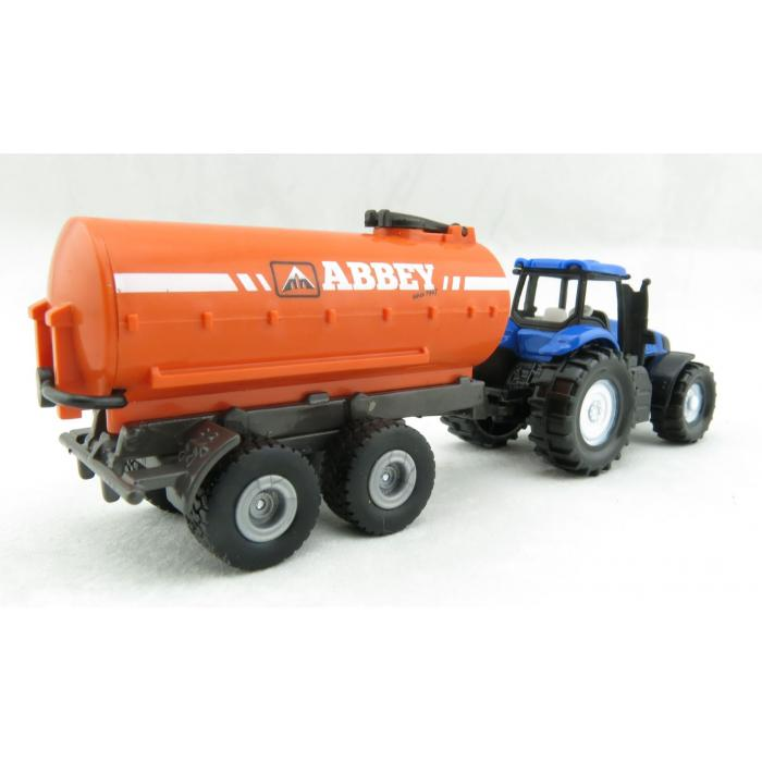 Mini New Holland Tractor & Abbey Trailer (Siku) [1642]