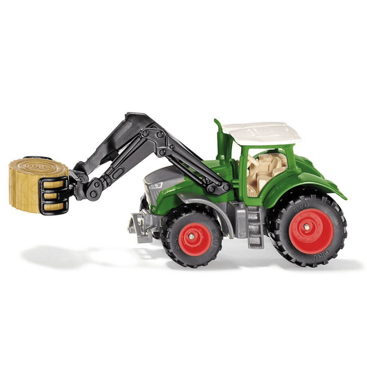 Siku Mini Fendt Vario 1050 toy tractor with bale gripper