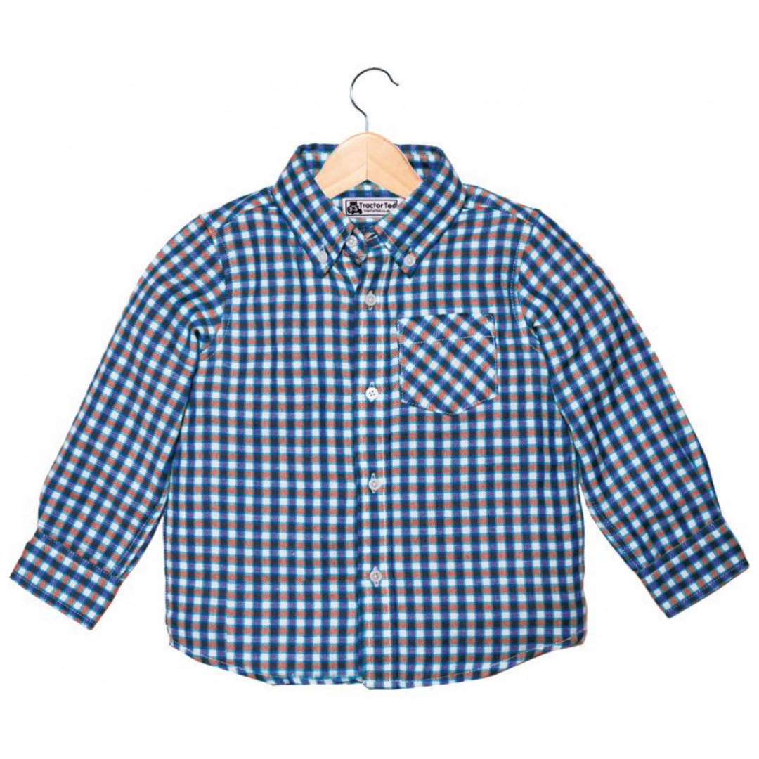 Tractor Ted Red Check Shirt