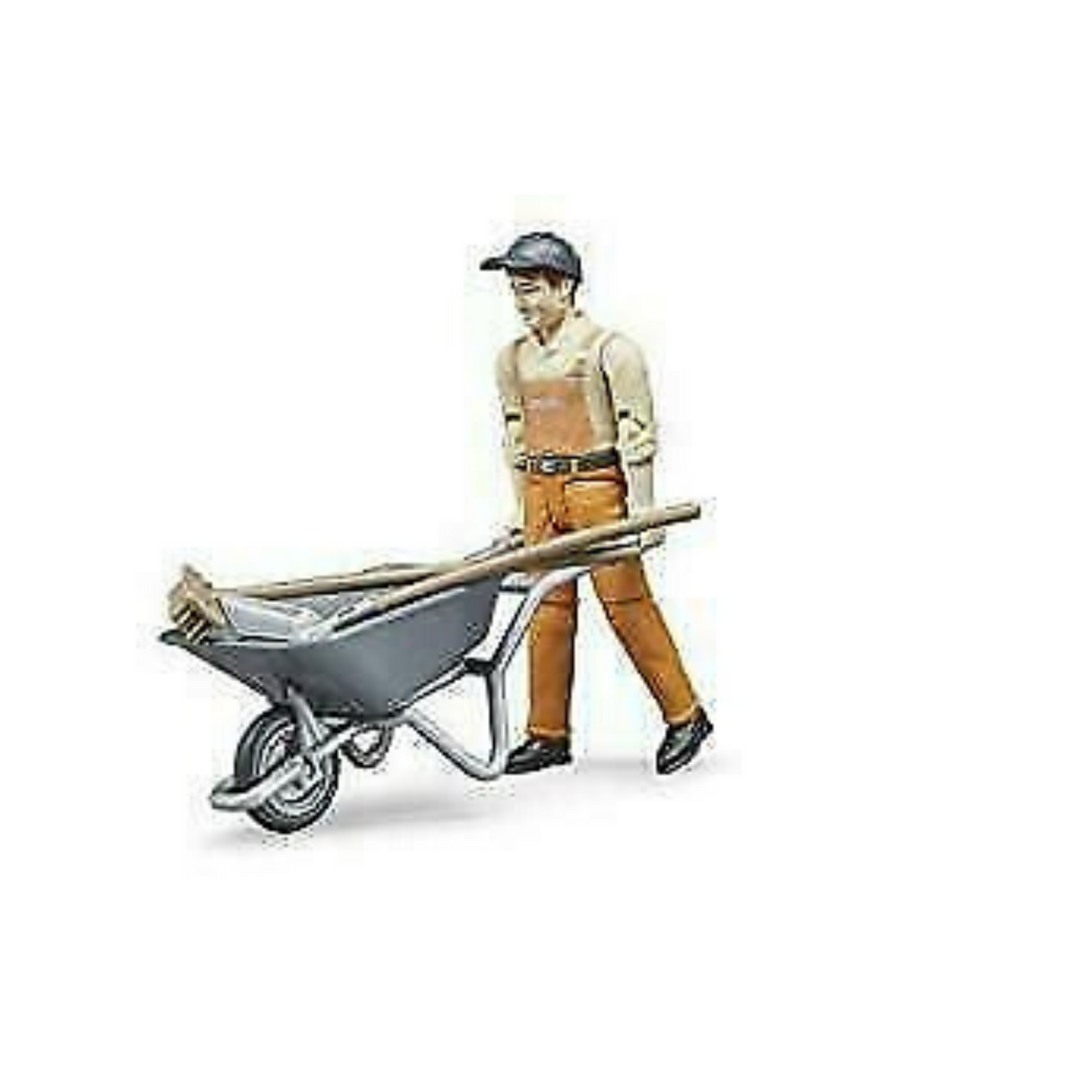 Bruder Worker with Wheelbarrow & Tools