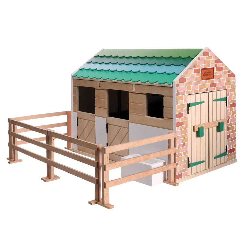Stables Wooden Playset (Lottie Doll) [LT074]