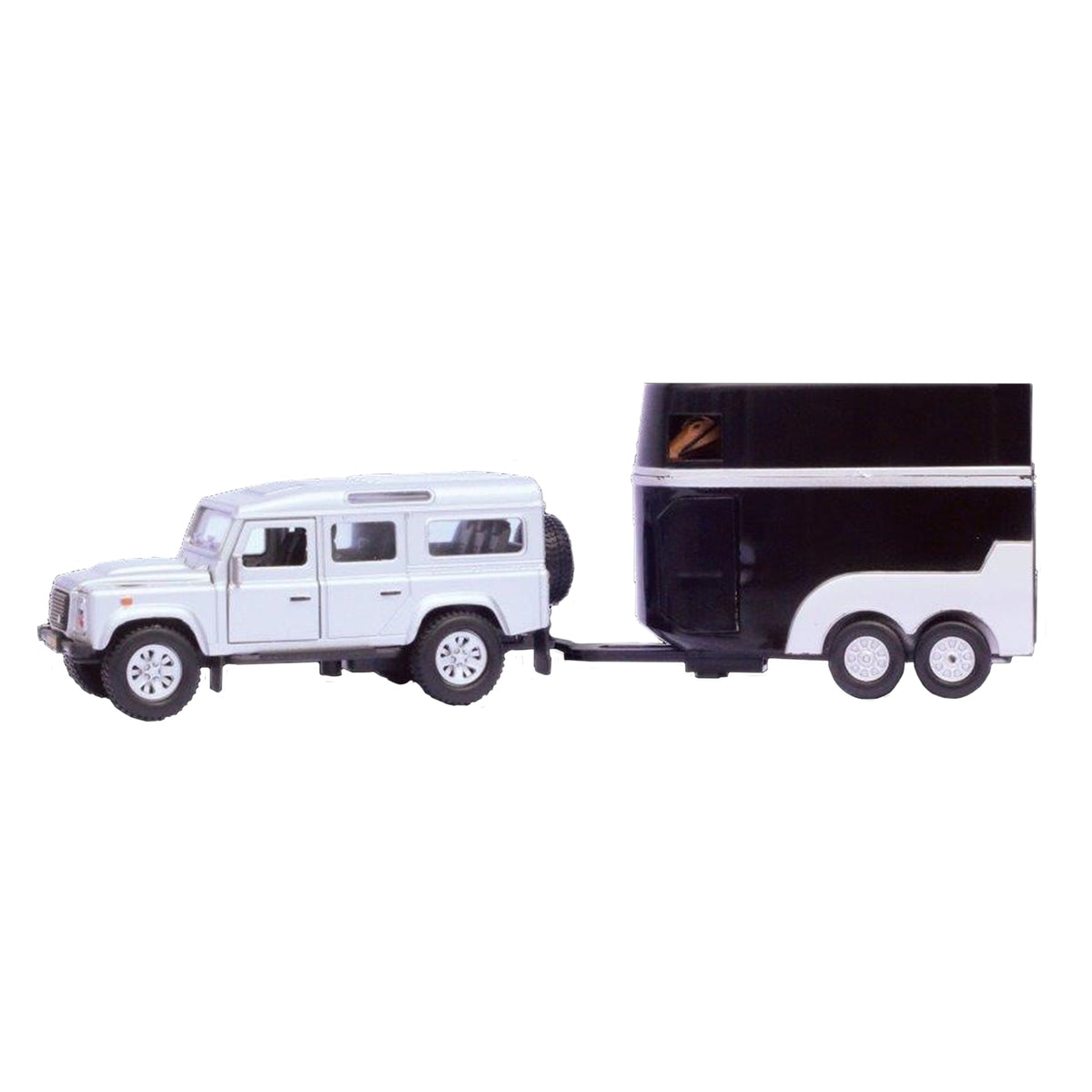 Kids Globe Land Rover Defender with Horse Trailer