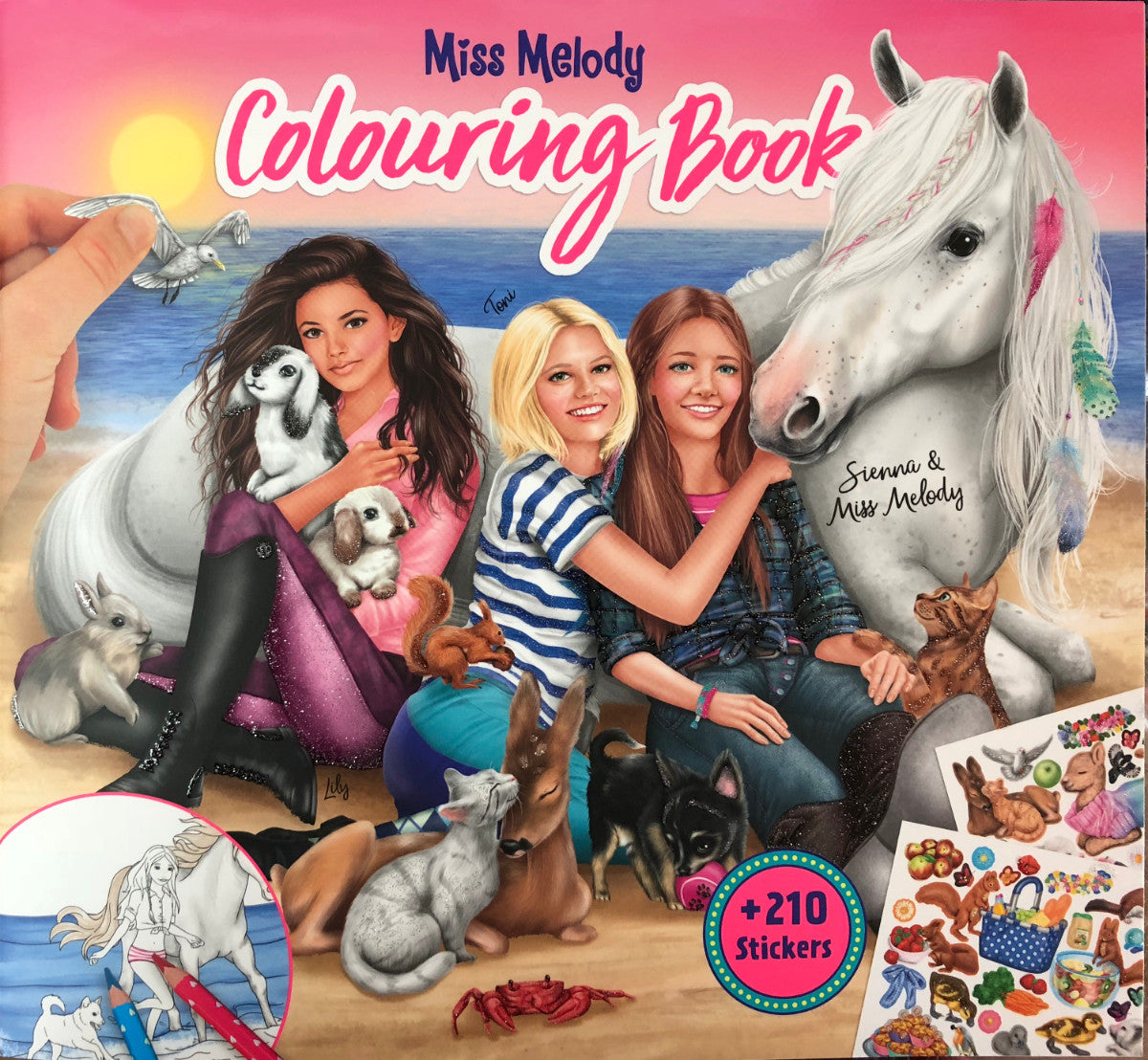 Miss Melody Colouring Book with Animals (Depesche) [10409]